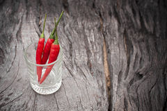 Glass of Red Chillies Royalty Free Stock Photo