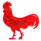 Glass red cock. Vector isolated glass red cock Royalty Free Stock Image