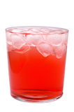 Glass of red drink with ice Royalty Free Stock Images