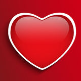 Glass Red Glossy Heart Royalty Free Stock Photo