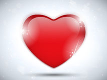 Glass Red Glossy Heart Royalty Free Stock Images