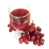 Glass of Red Grape Juice Stock Photos