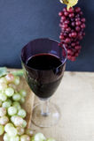 Glass of red grape juice Royalty Free Stock Photo