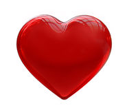 Glass Red Heart Royalty Free Stock Image