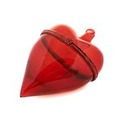 Glass red heart decoration figure Royalty Free Stock Photography