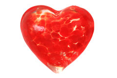 Glass red heart isolated Royalty Free Stock Photo