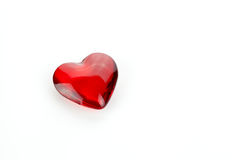 Glass Red Heart Stock Photos