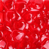 Glass Red Hearts. Valentines Day Royalty Free Stock Image