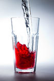 Glass of red juice Royalty Free Stock Photos