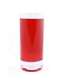 Glass of red juice or cocktail Stock Photo
