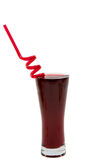Glass with red juice isolated Royalty Free Stock Photos