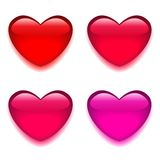 Glass red pink heart Stock Photos