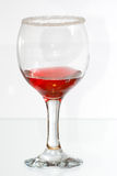 The glass of red raspberry liquor Royalty Free Stock Images