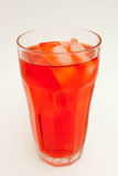 Glass of Red Soda. With ice Stock Photography