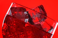 Glass of Red Soda Royalty Free Stock Photography
