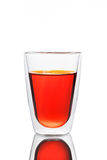 Glass of red water Royalty Free Stock Photography