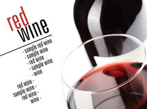 Glass of red whine Stock Image