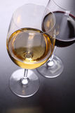 Glass of red and white wine Royalty Free Stock Image