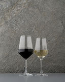 Glass of red and white wine Stock Photography