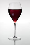Glass with red wine. HQ studio shot. Camera: Canon EOS 5D Mark II Stock Image