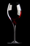 Glass with red wine Stock Photography