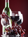 A glass of red wine Stock Images