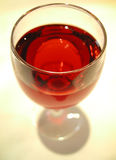 Glass of red wine. A close up of a glass of red wine Royalty Free Stock Image