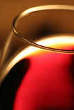 A glass red wine. Close up Royalty Free Stock Images