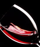 Glass of red wine Stock Images