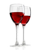 Glass with red wine Stock Images