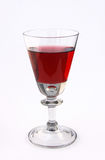 Glass of red wine. A single glass of red wine isolatedon white Stock Images