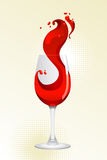 Glass of red wine. On a white background Royalty Free Stock Photos