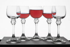Glass with red wine Royalty Free Stock Photos