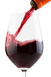 Glass with red wine Royalty Free Stock Image