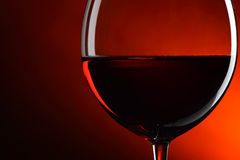 Glass of red wine. Close-up Royalty Free Stock Images