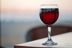 A glass of red wine Stock Photos