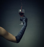 glass of red wine. Stock Photography