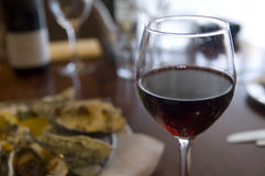The Glass of Red Wine Stock Photography