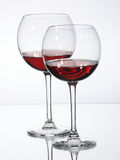 Glass Red Wine. Glass of Wine on white Background Royalty Free Stock Photo