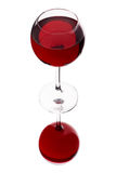 Glass of red wine. A glass of red wine, isolated on a white background Royalty Free Stock Photos