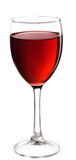 Glass of red wine. Full glass of red wine, isolated on white background Stock Images