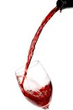 Glass Red Wine. Red wine being poured into a wine glass Royalty Free Stock Photo