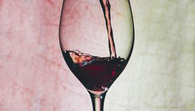 Red Wine In Glass Stock Photos