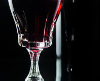 Glass with red wine Royalty Free Stock Photo