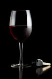 Glass of red wine and car keys Stock Photography
