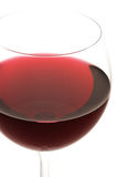 Glass of red wine close-up Royalty Free Stock Photo