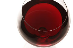 Glass of red wine close-up Stock Photo