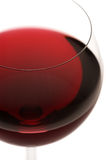 Glass of red wine close-up Stock Images