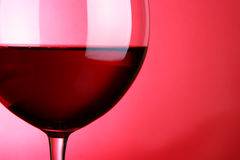 Glass of red wine close-up Royalty Free Stock Images
