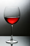 Glass of red wine close-up Stock Photography